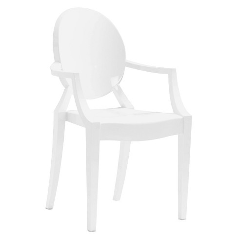 Set of 4 Modern Dining Chair White - ZM Home - image 1 of 4