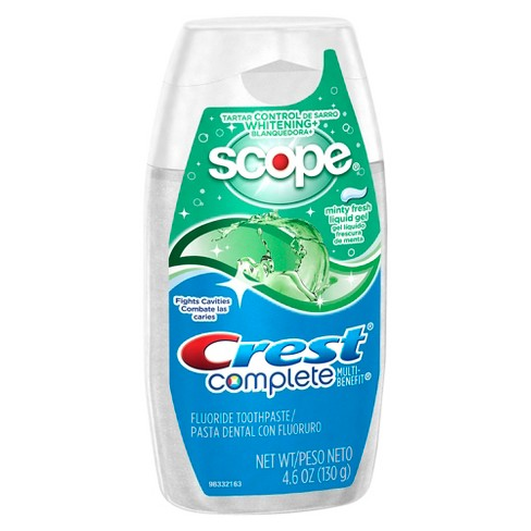Crest Complete Multi-Benefit Whitening Minty Fresh Flavor Liquid Gel Toothpaste - 4.6oz - image 1 of 1