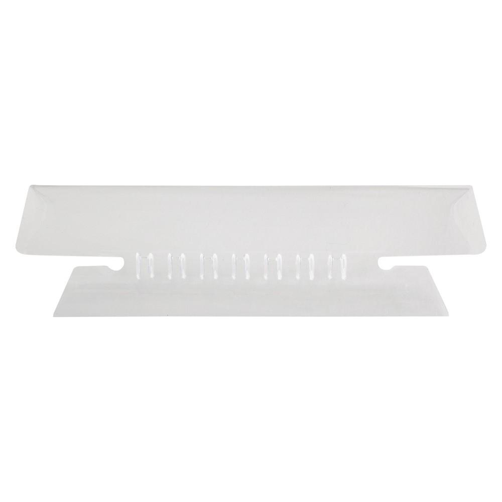 Pendaflex File Tab - White/Clear, Clear/White