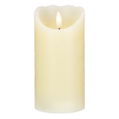 """Northlight 6"""" LED Ivory Flameless Battery Operated Christmas Decor Candle"""