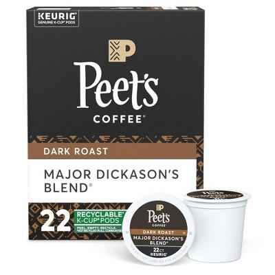 Peet's Major Dickason Dark Roast Coffee - Keurig K-Cup Pods - 22ct