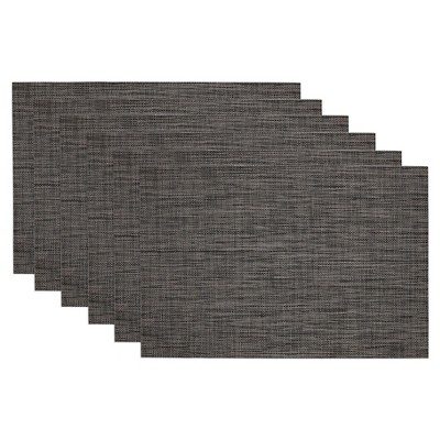 Gray Tonal Tweed Placemat (Set Of 6)- Design Imports