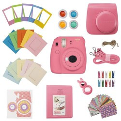 Slinger FujiFilm Instax Mini 9 Accessory Kit - Flamingo Pink (Camera Not Included)