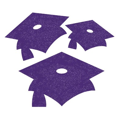 36ct Mortarboard Graduation Cutouts Purple