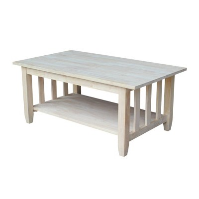 Mission Tall Coffee Table - International Concepts