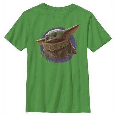 Boy's Star Wars The Mandalorian The Child Circle Halo T-Shirt