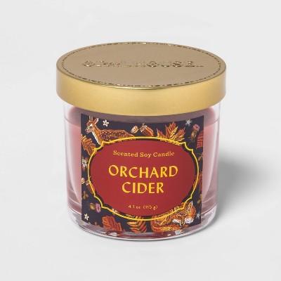4.1oz Lidded Glass Jar Apple Cider Candle - Opalhouse™