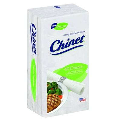 Chinet Classic White Dinner Napkin - 40ct