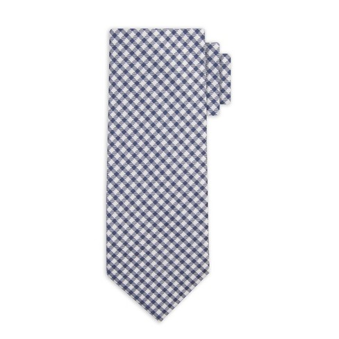 Men's Gingham 2 Necktie - Goodfellow & Co™ Blue One Size - image 1 of 2