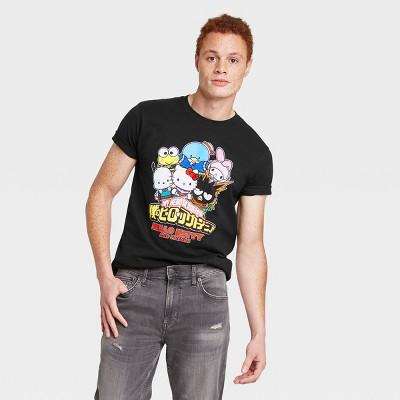 Men's My Hero Academia Sanrio Mashup Short Sleeve Crewneck T-Shirt - Black