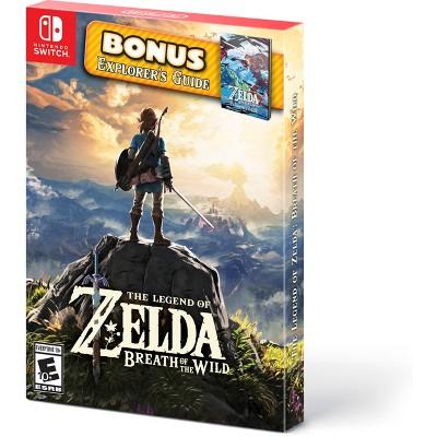 The Legend of Zelda: Breath of the Wild with Bonus Explorer's Guide - Nintendo Switch