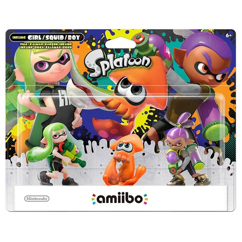 Nintendo Splatoon Series 3 Pack Amiibo Figures