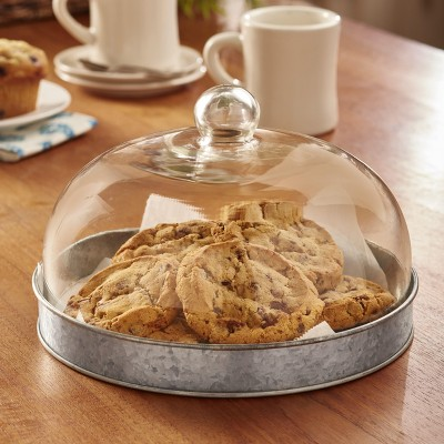 Lakeside Glass Domed Serving Plate for Confectionery and Baked Goods