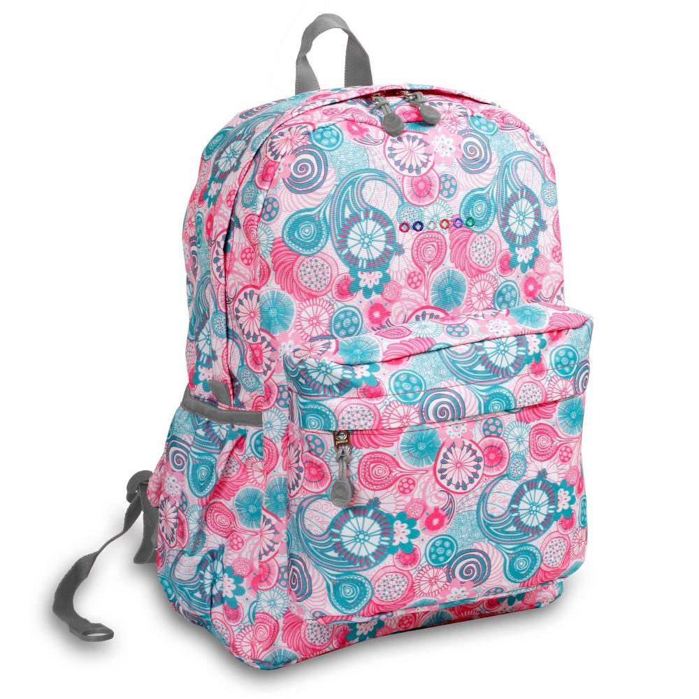 J World 17 Oz Laptop Backpack Blue Raspberry