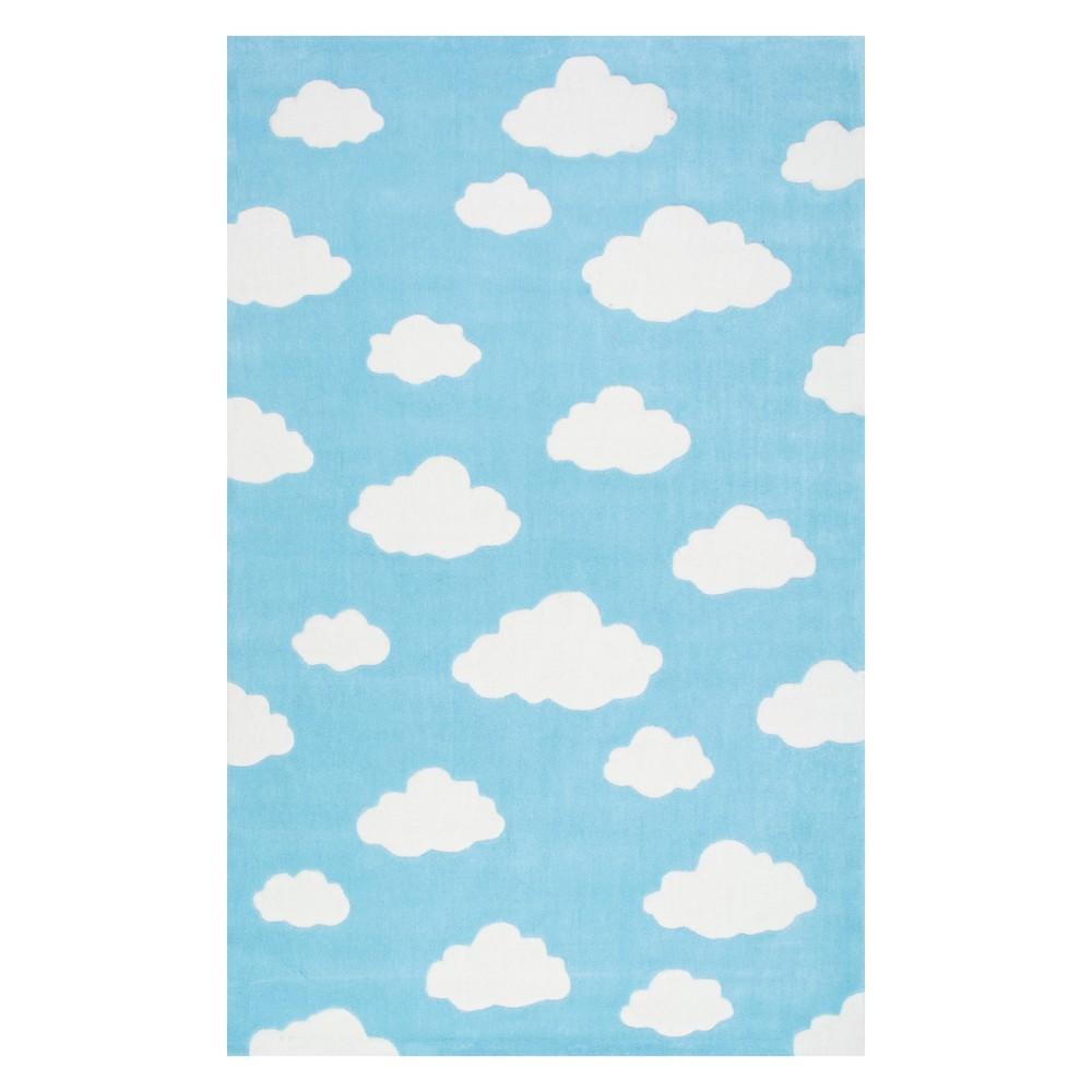 3 39 6 34 X5 39 6 34 Handmade Kids 39 Cloudy Sachiko Area Rug Blue Nuloom