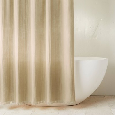 Gauze Shower Curtain Khaki - Casaluna™