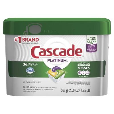 Cascade Platinum ActionPacs Dishwasher Detergent - Lemon Scent - 20oz