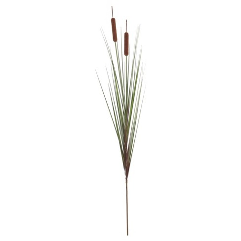 "Artificial Grass Cattail Spray (42"") Green/Brown - Vickerman - image 1 of 1"