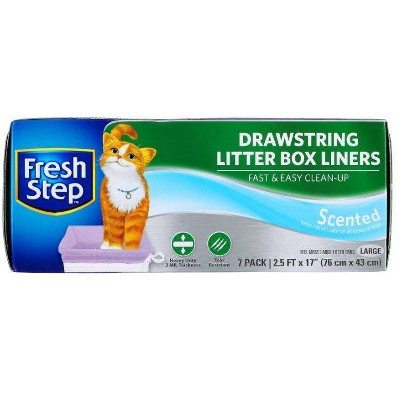 Fresh Step Scented Litter Box Liners For Cats - L