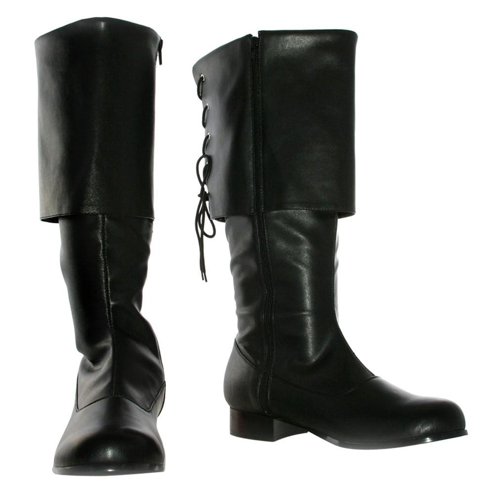 Adult Sparrow Boots Black Large Costume, Men's