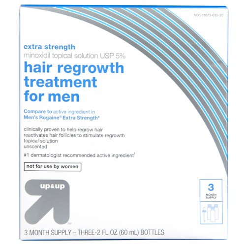 Extra Strength Minoxidil Hair Regrowth Treatment for Men - 1 kit - Up&Up