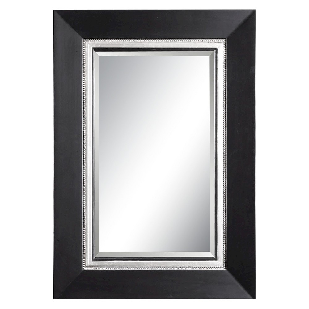 Rectangle Whitmore Vanity Decorative Wall Mirror Black - Uttermost, Black/Silver