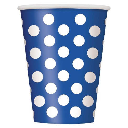 8ct Blue Polka Dot Paper Cup - image 1 of 1