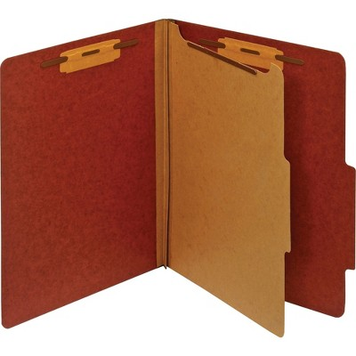 Pendaflex Classification Folder 1 Partition Letter Red PU41RED