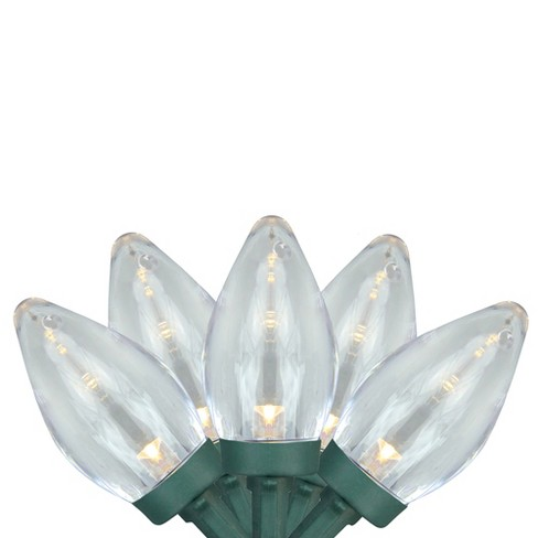 Brite Star 100ct Led C7 Commercial Length Christmas Lights On Spool Warm White 41 17 Green Wire