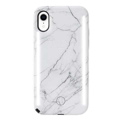 competitive price 00cce b82f5 LuMee Apple iPhone XR Duo Marble Case - White