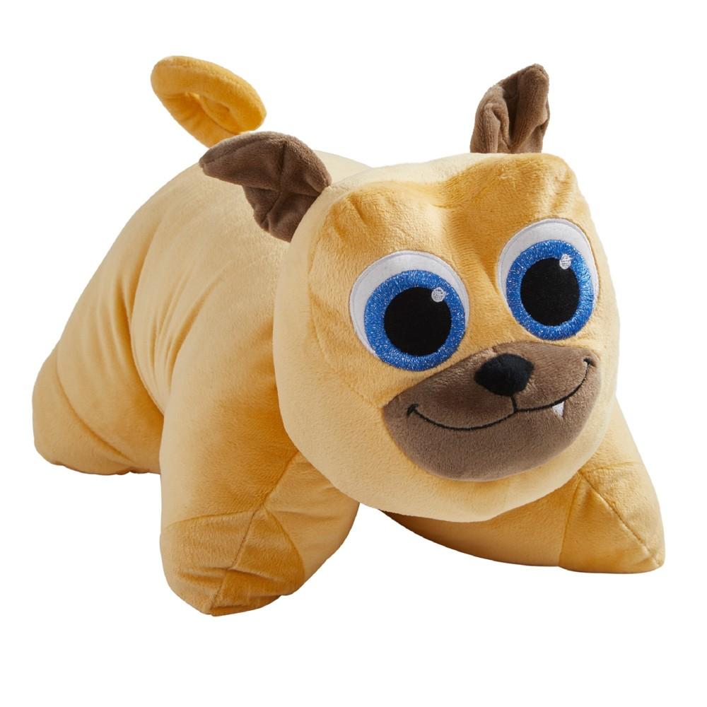 "Image of ""Disney Junior Puppy Dog Pals Rolly 16"""" Pillow Pet Brown"""