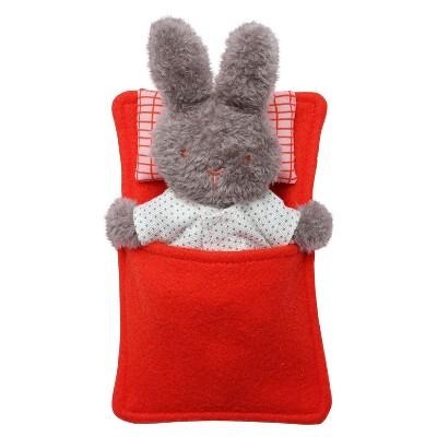 Manhattan Toy Little Nook Berry Bunny Stuffed Animal with Removable Clothing, Sleeping Bag & Keepsake Box