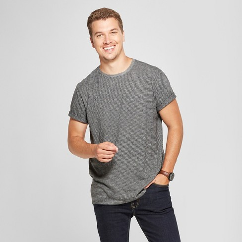Men's Standard Fit Short Sleeve T-Shirt - Goodfellow & Co™ Railroad Gray - image 1 of 3