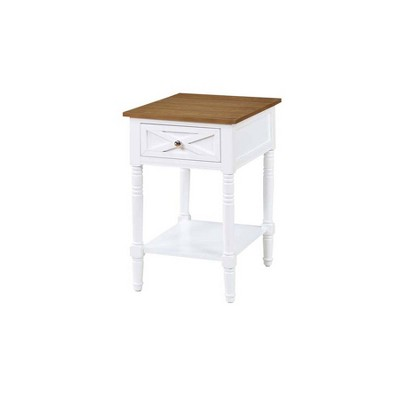 Country Oxford End Table with Charging Station - Johar Furniture