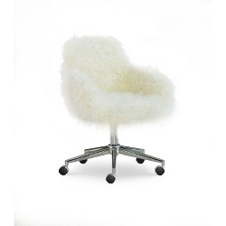Fiona Office Chair White - Linon
