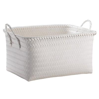 Large Woven Rectangular Storage Basket   White   Room Essentials™