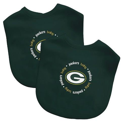 Green Bay Packers Baby Fanatic Bibs 2 Pack : Target