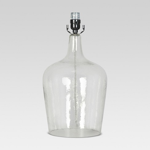 Artisan Glass Jug Large Lamp Base Clear - Threshold™ - image 1 of 1