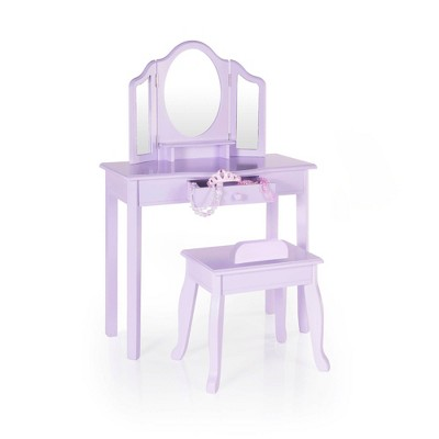 Kids' Classic Vanity and Stool Lavender - Guidecraft