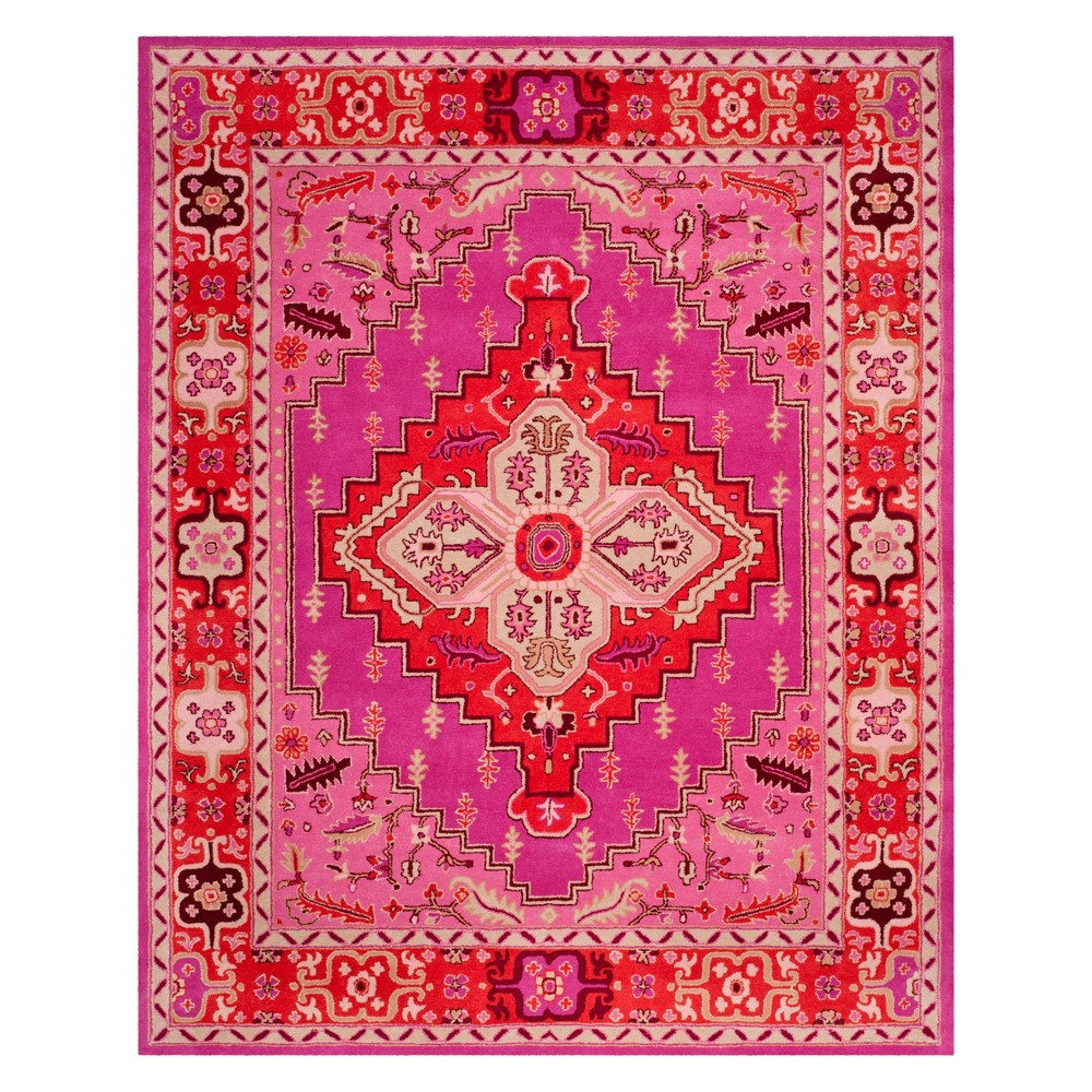 9'X12' Medallion Area Rug Red/Pink - Safavieh, Red Pink