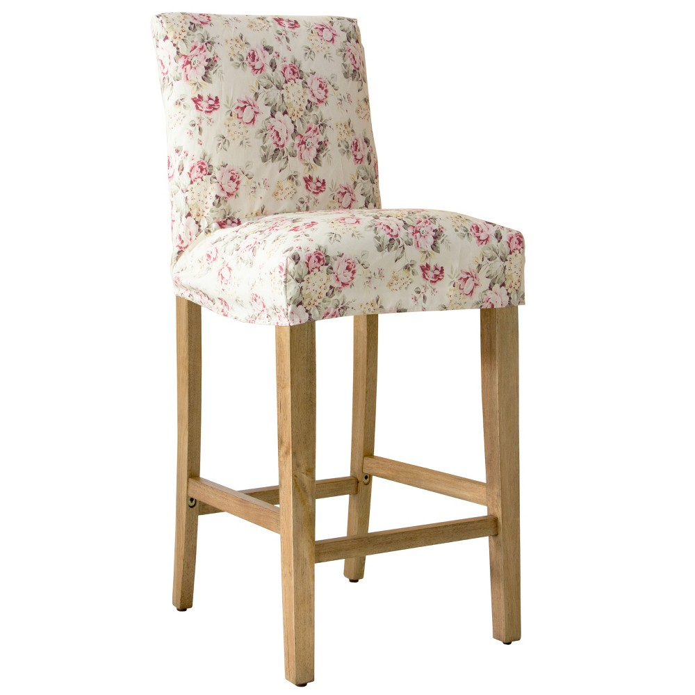 Slipcover Bar Stool Cluster Faded Red - Simply Shabby Chic