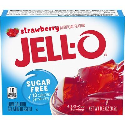 JELL-O Sugar-Free Strawberry Gelatin - 3oz