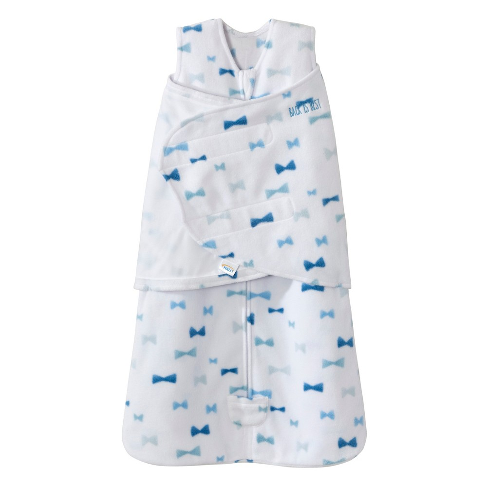 Halo Sleepsack Swaddle Micro Fleece Bowties - Blue - SM