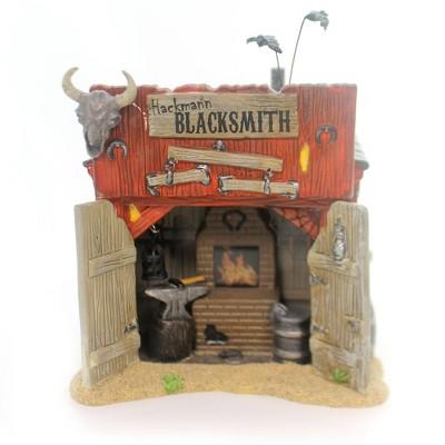 Department 56 House Hackmanns Blacksmith Shop Halloween Horse Snowvillage  -  Decorative Figurines