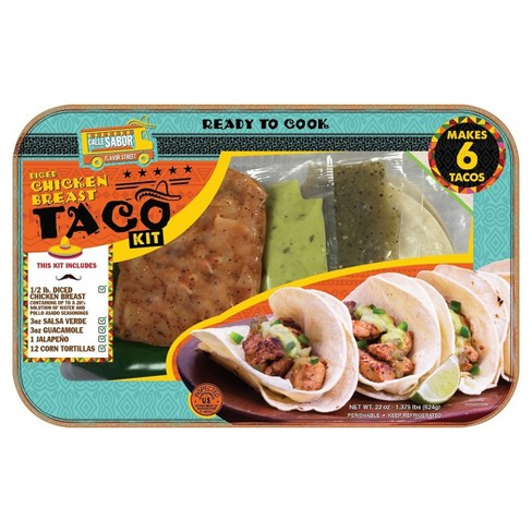 Calle Sabor Diced Chicken Breast Street Taco Meal Kit - 22oz - Serves 2 - image 1 of 1