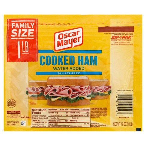 Oscar Mayer Refrigerated Sliced Ham - 1lb - image 1 of 2