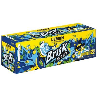 Brisk Lemon Iced Tea - 12pk/12 fl oz Cans