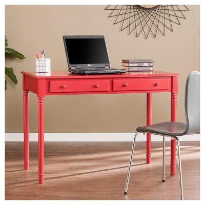 2 Drawer Writing Desk   Rustic Red   Aiden Lane : Target