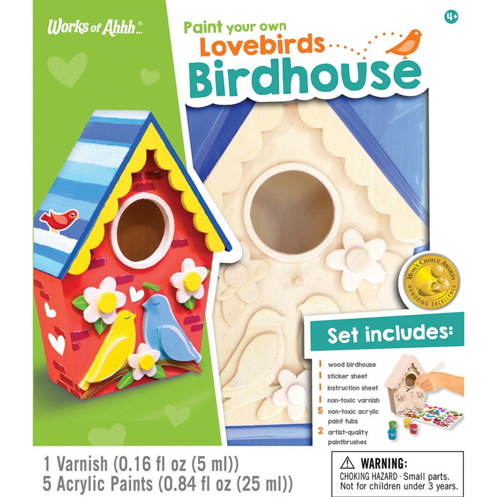 Image of MasterPieces Paint Your Own Lovebirds Birdhouse