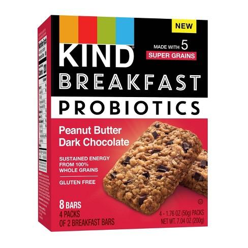 KIND Breakfast Probiotics Peanut Butter Dark Chocolate Bars - 7.1oz/8ct - image 1 of 4